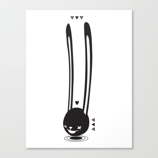 I CAN HEAR YOU ! - LONG EAR BUNNY  Canvas Print