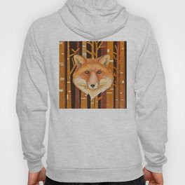 Fox Wild animal in the forest- abstract artwork Hoody
