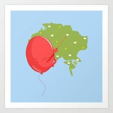 Weather Balloon Art Print