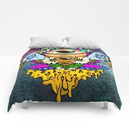 Open Your Eyes Psychedelic Illustration Comforters