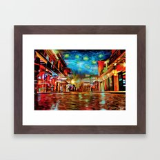 French Quarter Under the Stars Framed Art Print