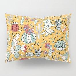 Succulents in yellow desert Pillow Sham