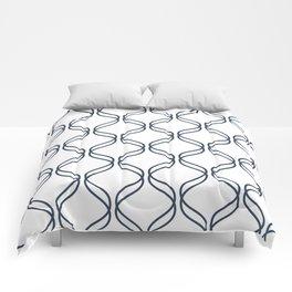 Double Helix - Navy #535 Comforters