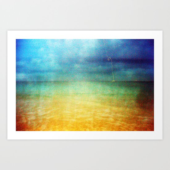 Paint The Sea Red Art Print