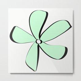 Green Daisy Metal Print