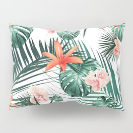 Tropical Flowers & Leaves Paradise #2 #tropical #decor #art #society6 Pillow Sham