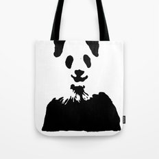 Pandas Blend into White Backgrounds Tote Bag