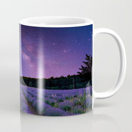 Milky Way over Lavender Fields Photographic Landscape Coffee Mug