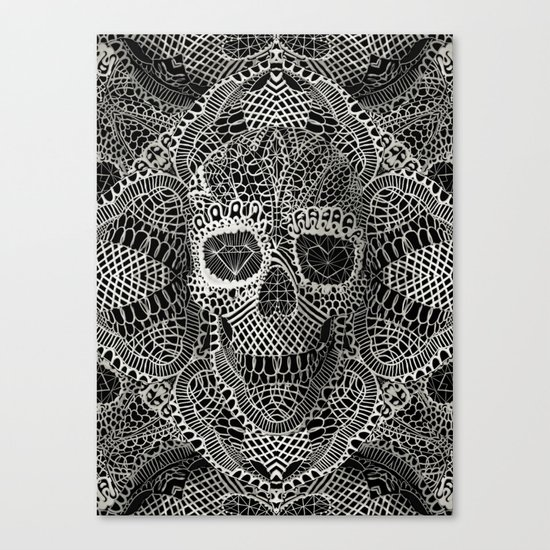 Lace Skull Canvas Print