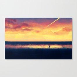 Sunset walk Canvas Print