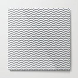 Chevron Navy Metal Print