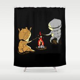 Bonfire Buddies Shower Curtain