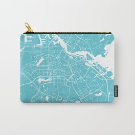 Amsterdam Turquoise on White Street Map Carry-All Pouch