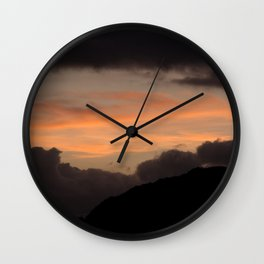 See me at sundown II Wall Clock