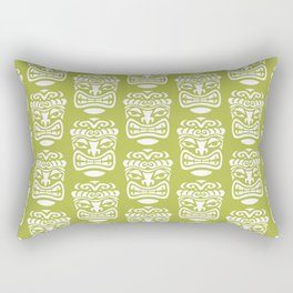 Tiki Pattern Chartreuse Rectangular Pillow