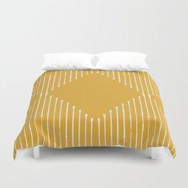 Geo / Yellow Duvet Cover