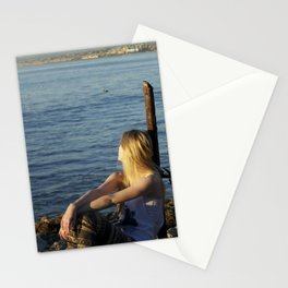 LA beaches Stationery Cards