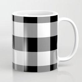 Black and White Buffalo Plaid Coffee Mug