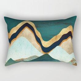 Velvet Copper Mountains Rectangular Pillow