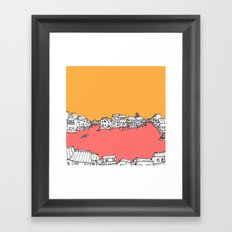 The Water Village Framed Art Print