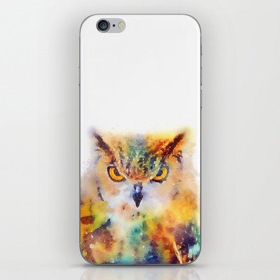 The Wise - Owl iPhone & iPod Skin