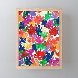 Color flowers Framed Mini Art Print