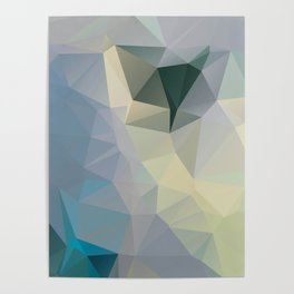 Mint / Poster, Art Prints, Deco, Scandinavian Images, Geometric, Pastel Poster, Mountains, Minimalis Poster