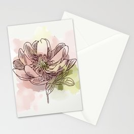 Watercolor Dahlia Stationery Cards