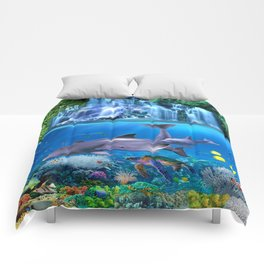 The Dolphin Family Comforters