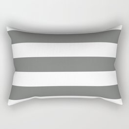 Nickel - solid color - white stripes pattern Rectangular Pillow