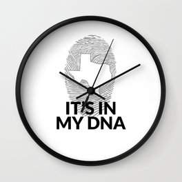Texas DNA Shirt for People from Texas  Wall Clock