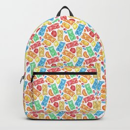 Gummies Galore - A rainbow of hand-drawn fruity flavored gummies and jelly beans Backpack