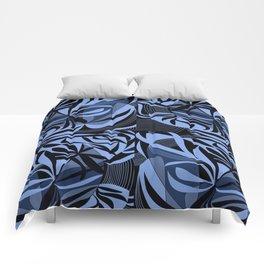 Blu flowers Comforters