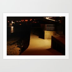 Wall by the Shore Art Print