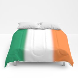 Green White and Orange Ombre Shaded Irish Flag Comforters