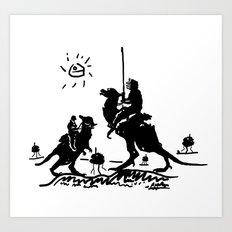 Han Quixote Art Print