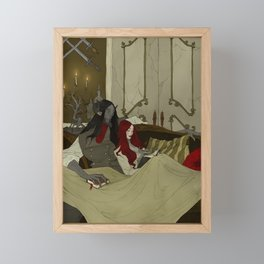 Beauty and the Beast - Evening Framed Mini Art Print