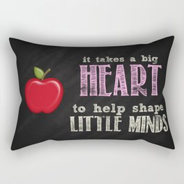 Big heart Pink Rectangular Pillow