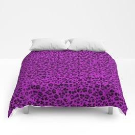 Vintage Flowers Dazzling Violet Comforters