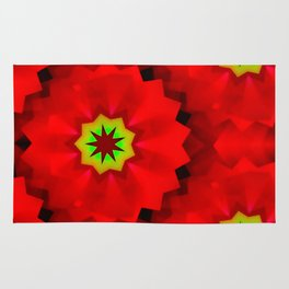 Little redlight-flower Rug