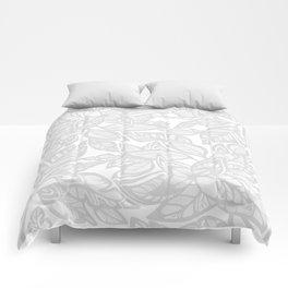 Let Love Grow - gray/white Comforters