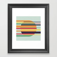 Swimming Field Framed Art Print