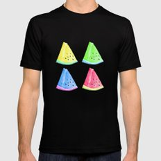 Watermelon Color Mix Mens Fitted Tee Black MEDIUM