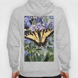 Yellow Swallowtail Butterfy Hoody