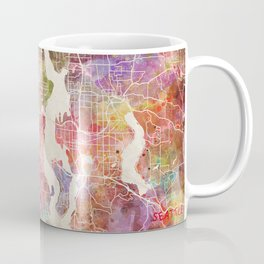 Seattle map Coffee Mug