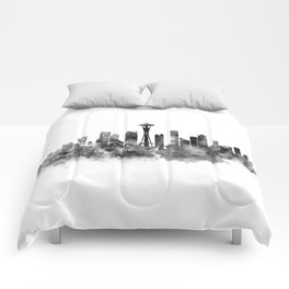 Seattle Black and White Comforters