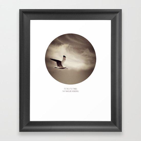 it's the little things.. Framed Art Print
