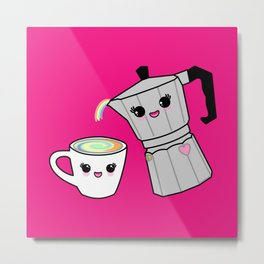 Coffee pot and cup Metal Print