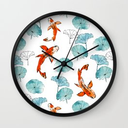 Waterlily koi Wall Clock