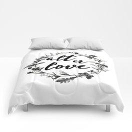 alt er love floreal Comforters